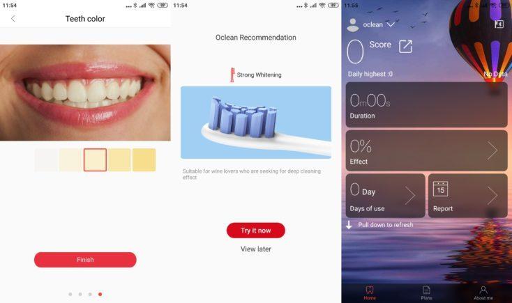 Xiaomi Oclean X Toothbrush App Teeth