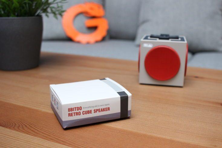 8Bitdo Retro Cube Speaker Cardboard