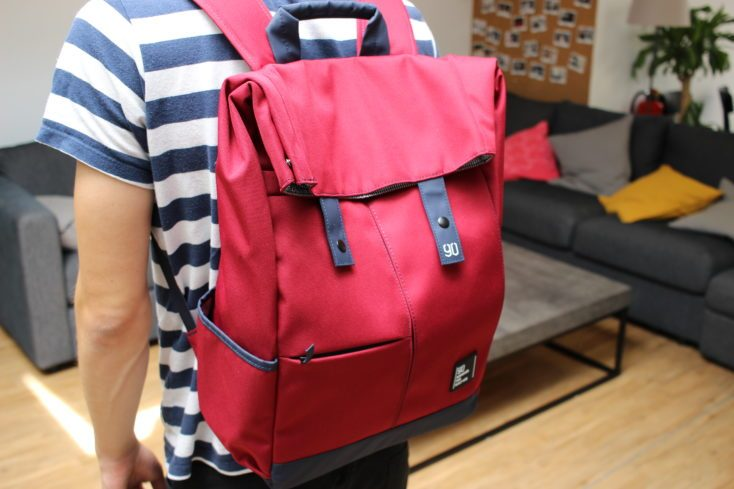 90Fun College Backpack Red Rear