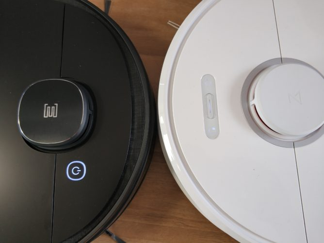 Ecovacs Deebot Ozmo 950 Roborock S6 vacuum robot Controls