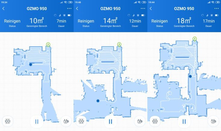 Ecovacs Deebot Ozmo 950 Vacuum Robot Home App Mapping