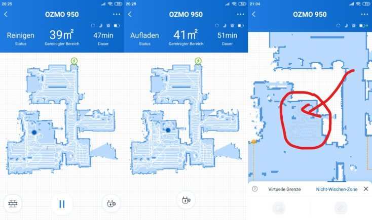 Ecovacs Deebot Ozmo 950 Vacuum Robot Home App Mapping Carpet Detection