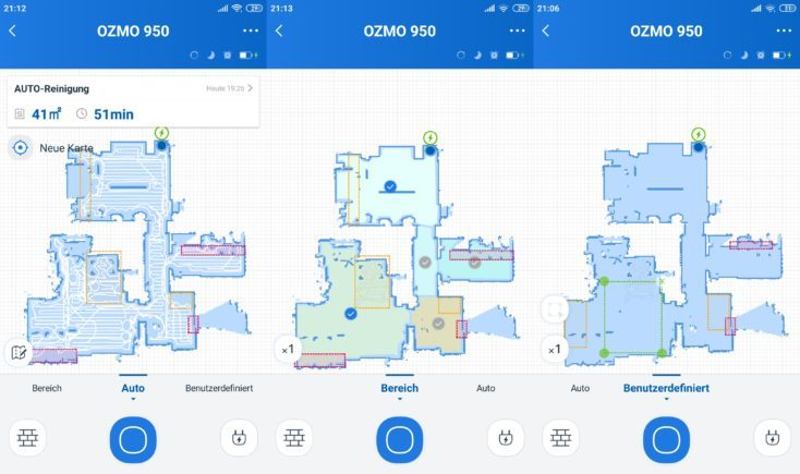 Ecovacs Deebot Ozmo 950 Vacuum Robot Home App Mapping Room layout