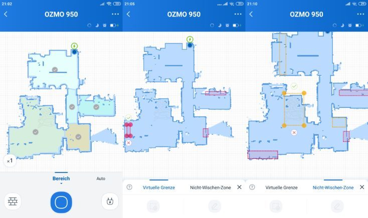 Ecovacs Deebot Ozmo 950 Vacuum Robot Home App No-Go Zones