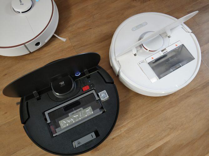Ecovacs Deebot Ozmo 950 vacuum robot comparison flap Roborock S6