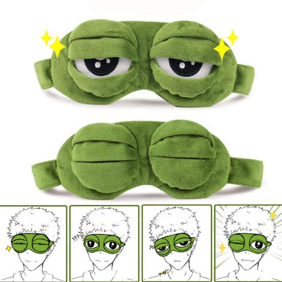 Frog Sleep Masks Grimaces