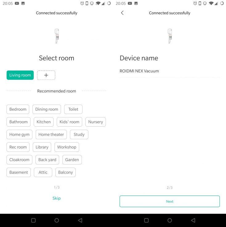 Roidmi NEX Storm Vacuum Cleaner Xiaomi Home App Bluetooth connection successful