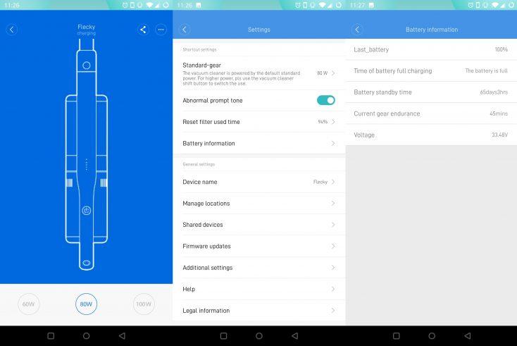 Roidmi NEX Storm Vacuum Cleaner Xiaomi Home App Interface