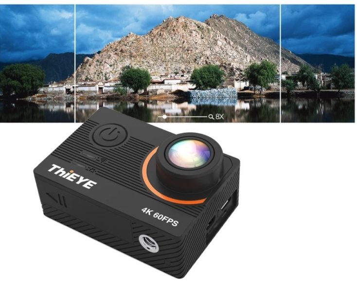 ThiEYE T5 Pro wide-angle lens