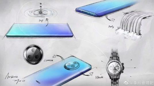 Vivo NEX 3 smartphone drawing