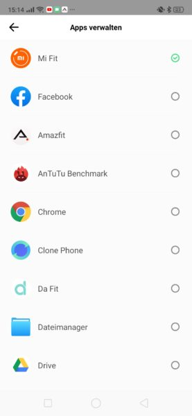 Huami Amazfit App Notifications