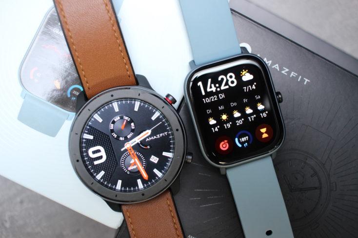 Huami Amazfit Smartwatch GTS vs GTR