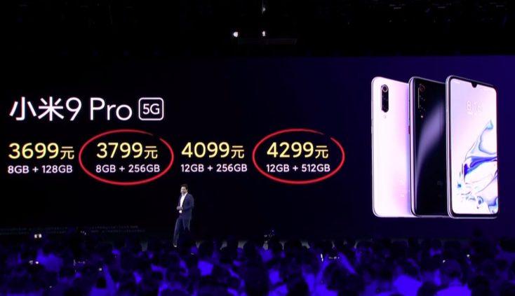 Xiaomi Mi 9 Pro 5G Prices