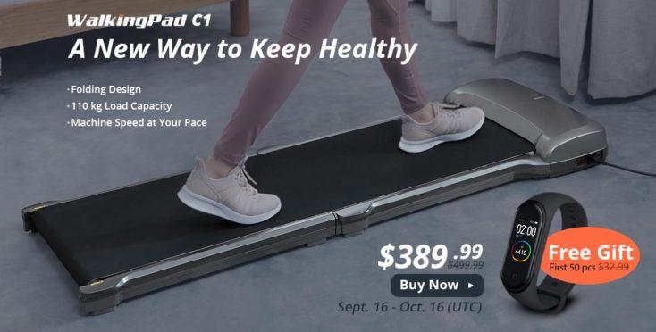 Xiaomi Walkpad C1 free treadmill Mi Band 4