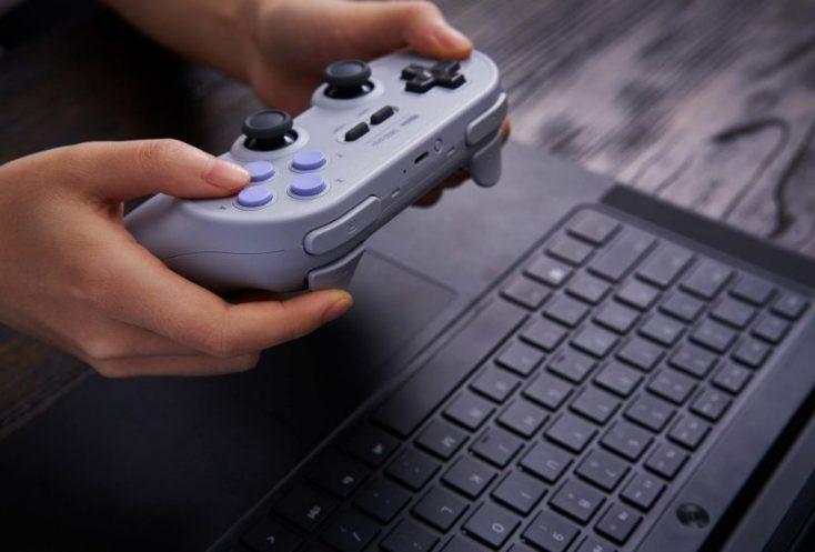 8Bitdo SN30 Pro+ Controller on Laptop