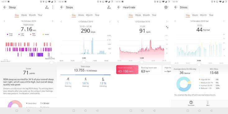Huawei Watch GT 2 Sleep Steps Heart Stress