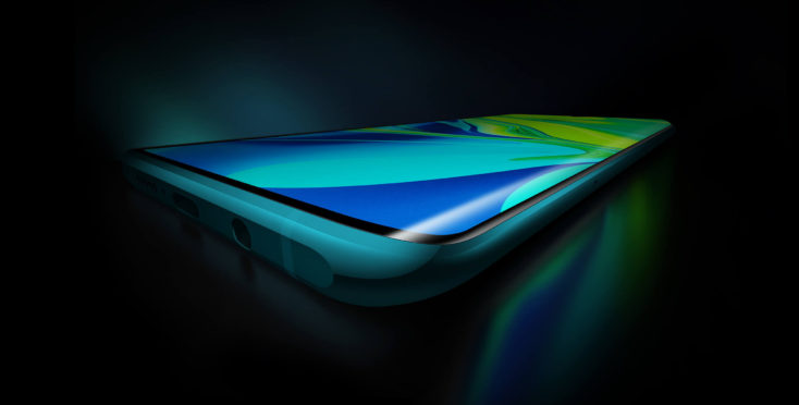 Xiaomi Mi Note 10 Display with rounded edges
