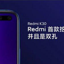 Redmi K30 Smartphone Punch Hole Camera