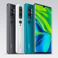 Xiaomi Mi Note 10 in three colors