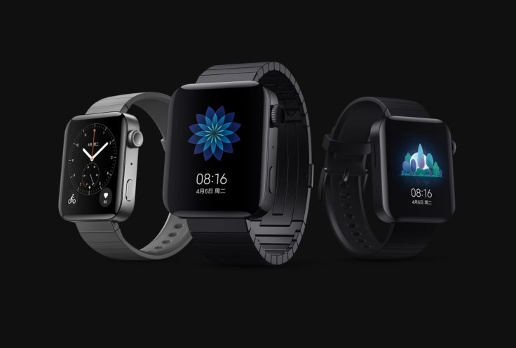 Xiaomi Mi Watch Smartwatch with the premium version in the middle