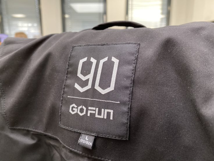 90FUN Down Jacket Label Logo