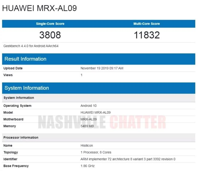 Huawei MatePad Pro Geekbench Benchmark