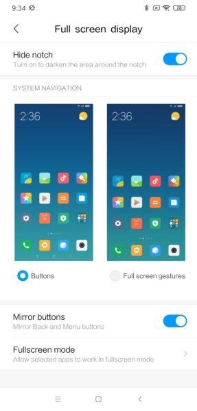 Redmi Note 8 MIUI Display Notch