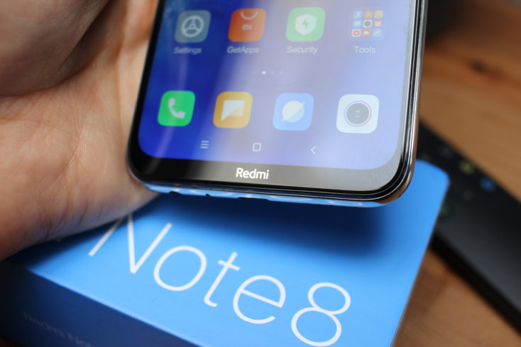 Redmi Note 8 Smartphone Screen Edge Redmi Branding