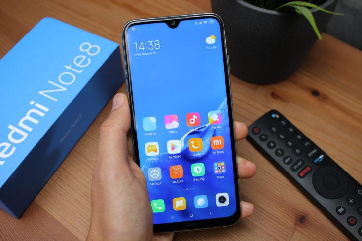 Redmi Note 8 Smartphone in Hand
