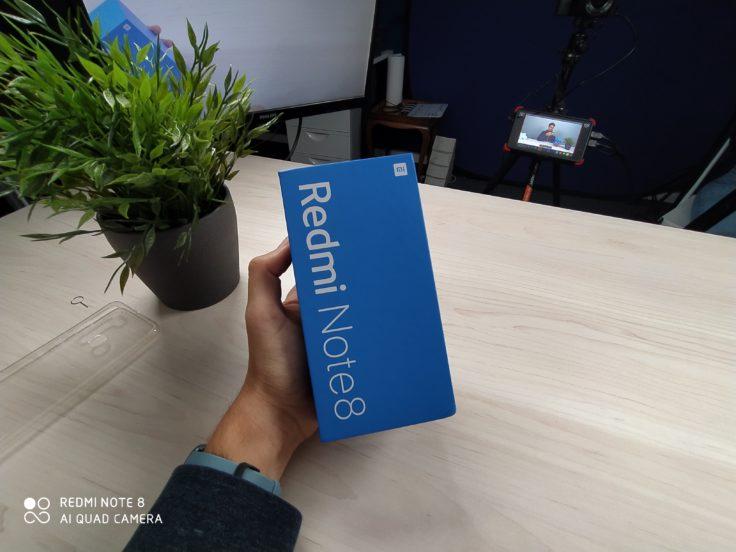 Redmi Note 8 Smartphone test photo wide angle Box
