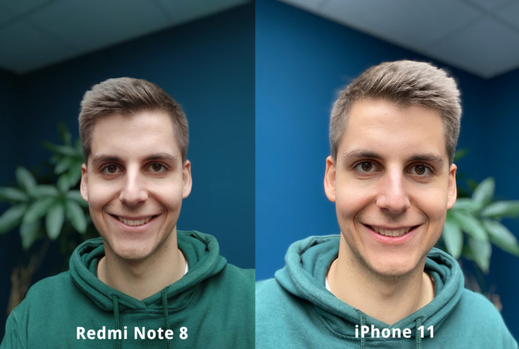 Redmi Note 8 front camera test photo portrait comparison
