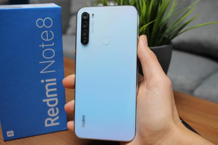 Redmi Note 8 smartphone backside whole
