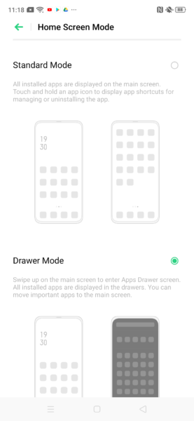 Realme X2 Color OS 6 App Drawer