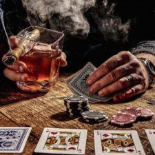 Whiskey glass cigar