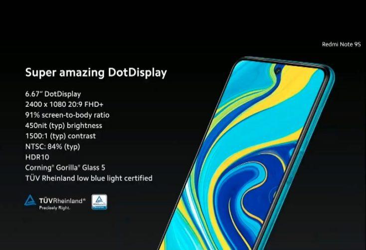 Redmi Note 9S Display