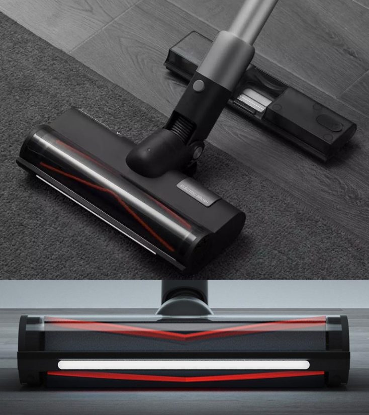 Roidmi NEX 2 Pro Battery vacuum cleaner floor nozzle led