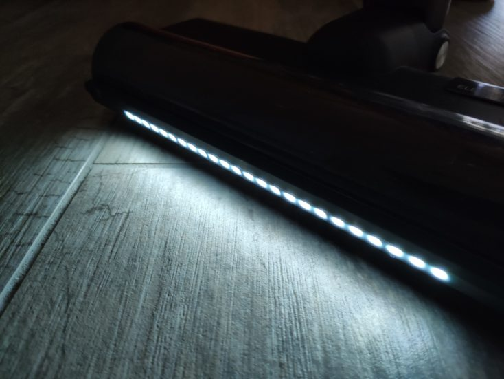Roidmi NEX 2 Pro cordless vacuum cleaner LED lights floor nozzle