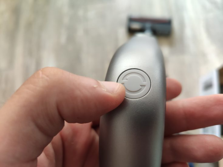 Roidmi NEX 2 Pro cordless vacuum cleaner button Increase suction
