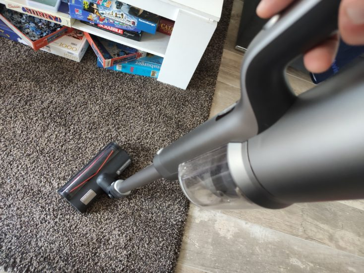 Roidmi NEX 2 Pro vacuum cleaner carpet performance