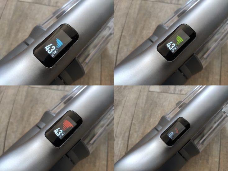 Roidmi NEX 2 Pro vacuum cleaner display