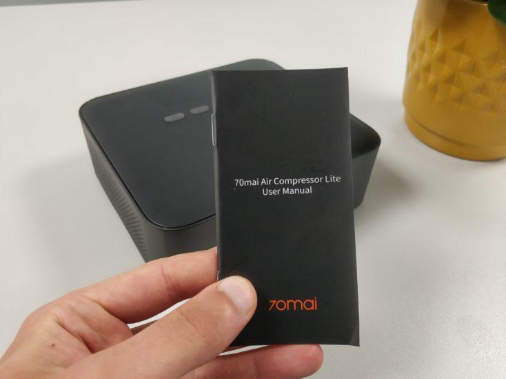Xiaomi 70Mai electric air pump compressor instruction manual