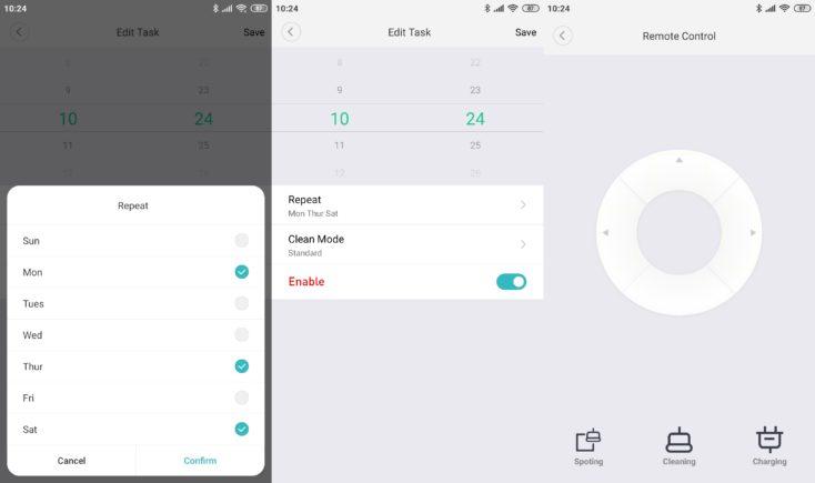 Xiaomi SWDK ZDG300 Wiping Robot App Schedule working hours Remote control