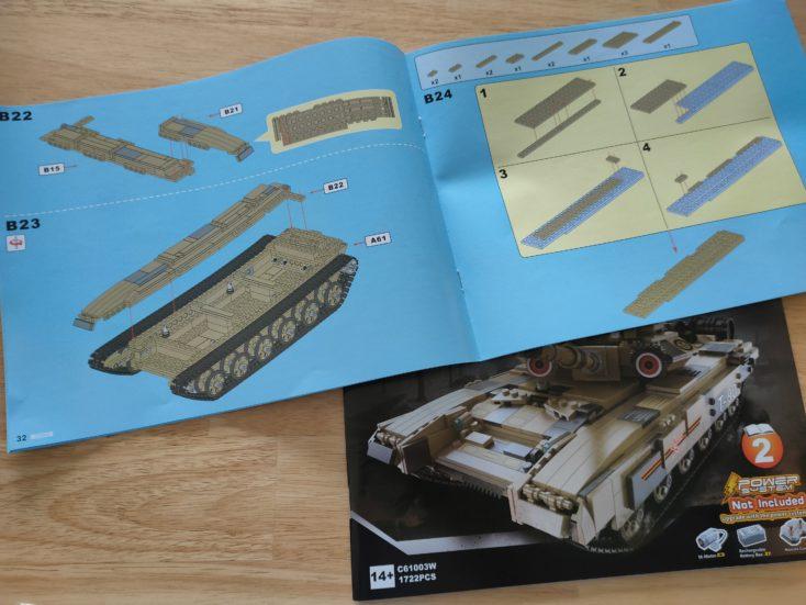 CaDA T90 Tank C61003W Instructions