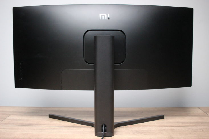 Xiaomi Curved Gaming Monitor back with cover