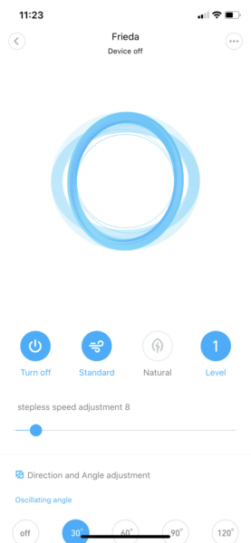 Xiaomi Smartmi Standing Fan 2 App Mode