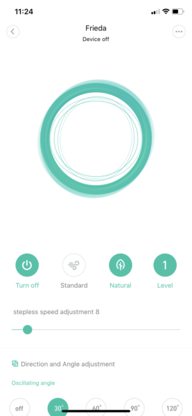 Xiaomi Smartmi Standing Fan 2 App Natural mode