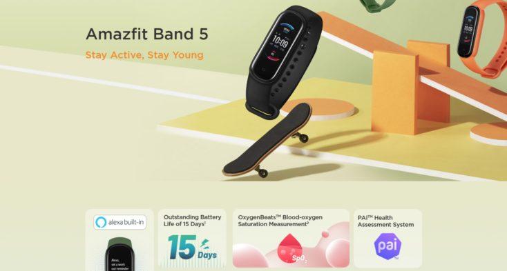 Amazfit Band 5 fitness tracker