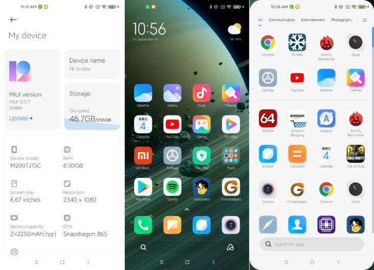 Xiaomi Mi 10 Ultra MIUI 12