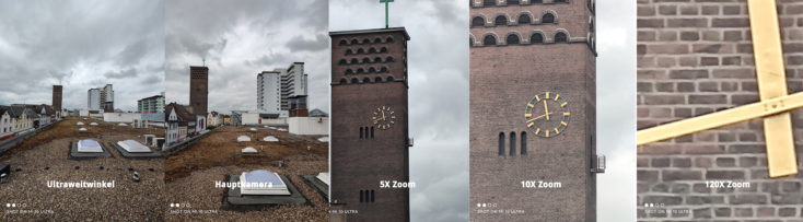 Xiaomi Mi 10 Ultra focal length comparison