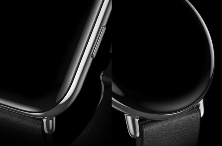 Zepp E Smartwatch close-up of the bezel